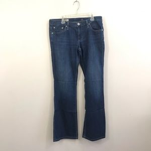 {AG} The Angle Bootcut Blue Jeans